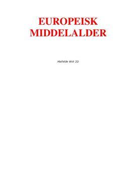 Europæisk middelalder