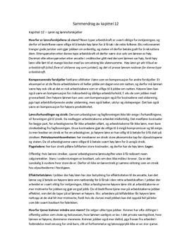 Lønn og arbeidsledighet | Sammendrag kap. 12 og 13
