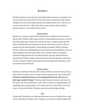 Artikkel om barokken