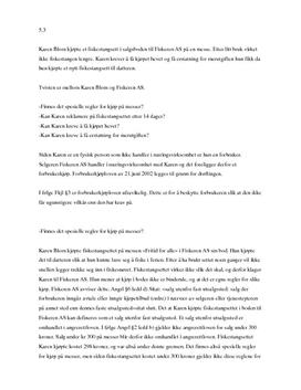 Oppgave 5.3 | Karen Blom | Forbrukerkjøpsrett