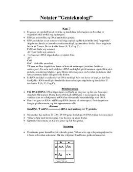 Notater genteknologi kap. 7 Kosmos