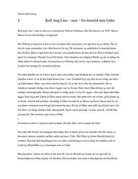 Kall meg Line-mor | Analyse