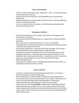 Notater: Norge i mellomkrigstiden Portal