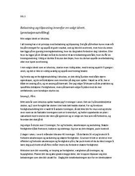 Belastning og tilpasning innenfor ishockey | Treningsprinsipper