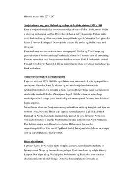 Notater: mellomkrigstid og andre verdenskrig