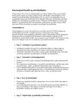 Internasjonal handel og arbeidsmiljøloven