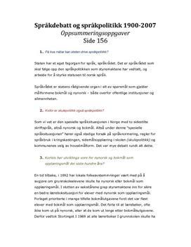 Språkdebatt og språkpolitikk i Norge 1900-2007