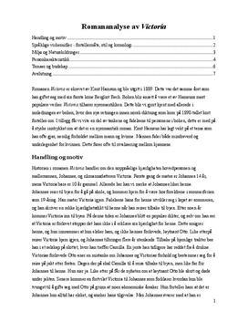 Analyse av Victoria | Særemne | Fordypningsoppgave