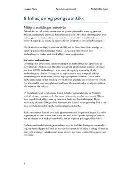 Kap. 8 Inflasjon og pengepolitikk