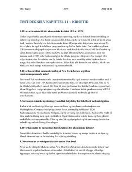 Kap 11. Krisetid | Oppgaver