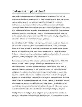 Eksempel p essay norsk