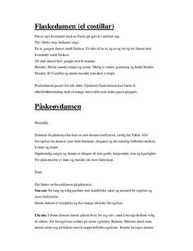 Beskrivelse av ulike danser