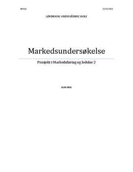 """Markedsundersøkelse ML2 """"Krefting & Co"""""""