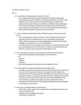 Tidslinjer 2 Test deg selv Kapittel 11 og 12