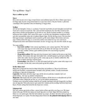 Notater til kapittel 5, 7, 8 og 10 Terra Nova