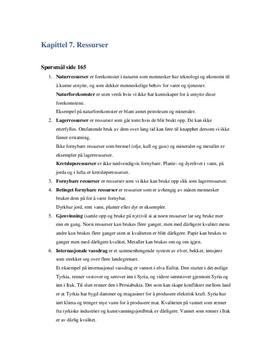 Oppgaver i kapittel 7. Ressurser Terra Nova