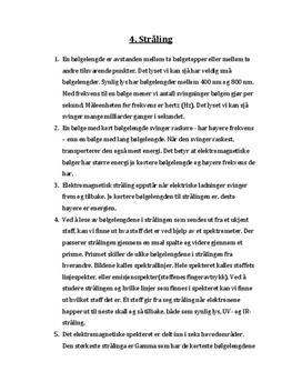 Kapittel 4 - Stråling | Nexus Naturfag | Oppgaver fra læreboka