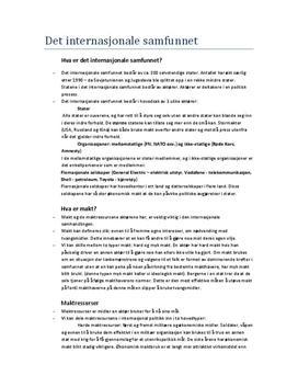 Standpunkt kapittel 6: Det internasjonale samfunn