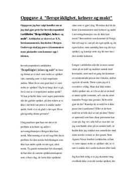Artikkel om flerspråklighet, kelnere og makt