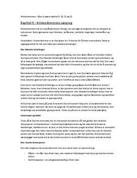 Kristendommen | Sammendrag | Tro og tanke kap. 9-11