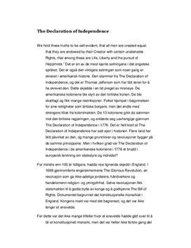 Uavhengighetserklæringen - Kontinuitet eller Brudd