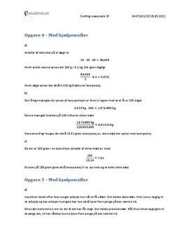 VGS Matematikk 1P Våren 2011 – med hjelpemidler
