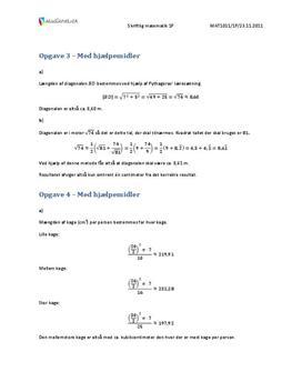 VGS Matematikk 1P Høsten 2011 – med hjelpemidler