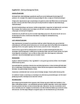 Tidslinjer 1 Historie: Sammendrag av kap 10 - 12