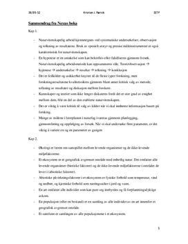 Sammendrag av kapittel 1-9 Naturfag - Hele Nexus Vg1