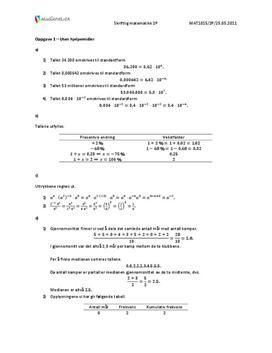 VGS Matematikk 2P Vår 2011 – uten hjelpemidler