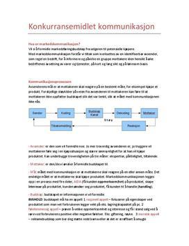 Kapittel 11 | Konkurransemidlet markedskommunikasjon | Sammendrag
