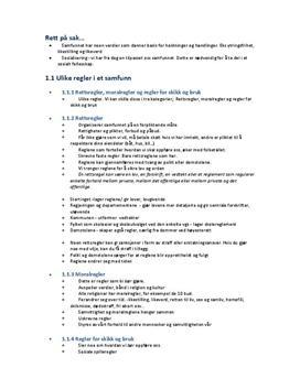 Regler i et samfunn - Rettslære 1: Notater til Kap 1