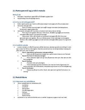 Sammendrag: Juridisk metode - Rettslære