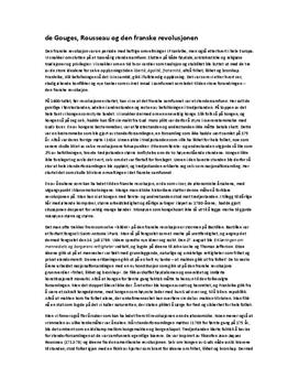 Den Franske Revolusjon - Rousseau og de Gouges