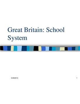 Power Point om skolesystemet i Great Britain