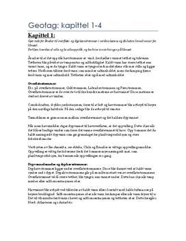 Sammendrag av Kap. 1-4 Geofag 2 Terra Nostra