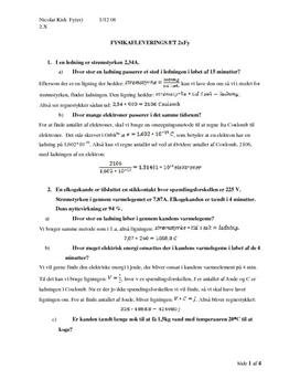 Fysikk 2 oppgaver