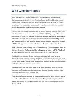 Native Americans - Engelsk Oppgave om Urfolks Utfordringer