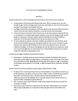 Sammendrag av Nexus VG1 - ALLE kapitler - Naturfag