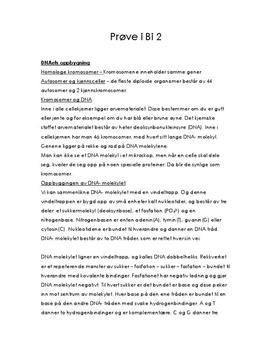 Celler og DNA - Notater til Prøve i Biologi 2 Kap. 3