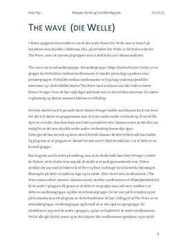 The Wave (Die Welle) oppgave om grupper | Analyseoppgave