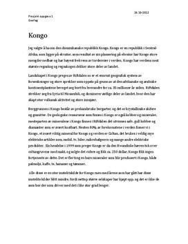 Prosjektoppgave om Geologien i Kongo - Geofag 1