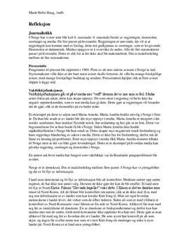 Refleksjon om Journalistikk - Teori i Mediekommunikasjon