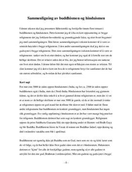 Sammenligning av Buddhisme og Hinduisme - RLE Uppsats