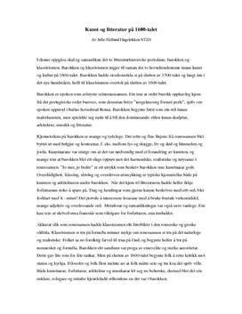 Sammenlikning av barokken og klassisismen
