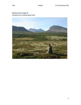 Ekskursjonsrapport om Fjelløkologi - Biologi