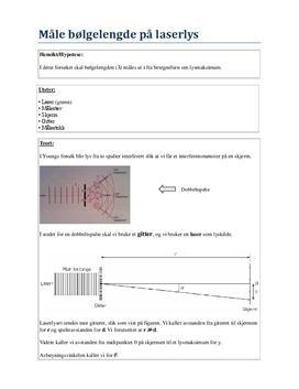Labrapport: Måle bølgelengde på Laserlys - Fysikk