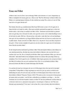 Essay om frihet