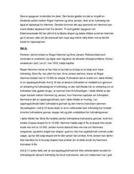 Avtalerett og forbrukerrett - Eksamen i rettslære