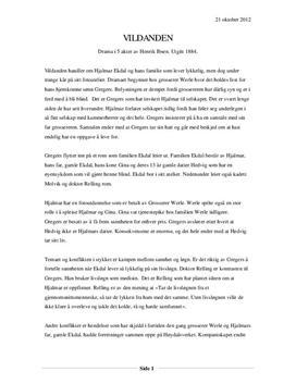 """Analyse av """"Vildanden"""" av Henrik Ibsen"""